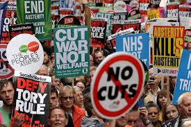 Thousands march in London against govt austerity plan