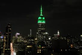 New York's Empire State Building lit green for Eid Al Fitr
