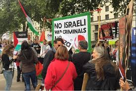 Protesters are gathering outside Downing Street