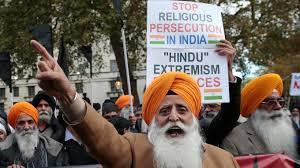 Hundreds protest Modi's visit to UK