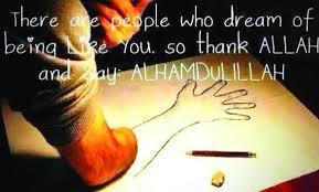 Thank to Allah