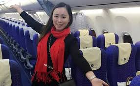 This woman... the only passenger on a flight