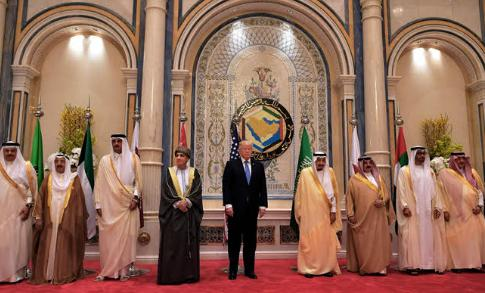 President Donald Trump meets with GCC leaders